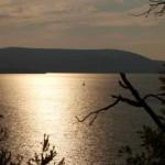 Lac de Sainte Croix au soleil couchant